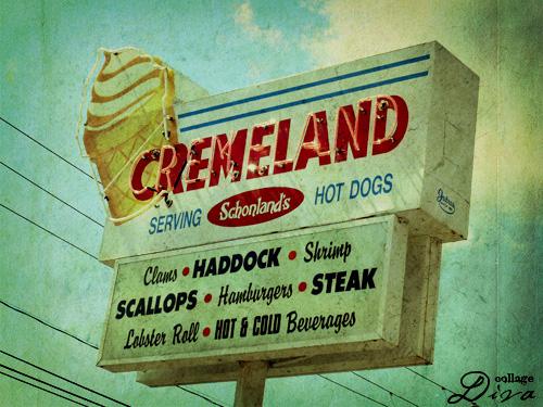 Cremeland-sign