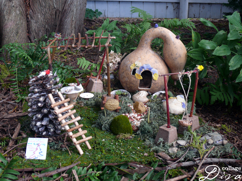 In One Of The Gardens At Strawberry Bankes Fairy Home Tour There Were Several Homes Including This