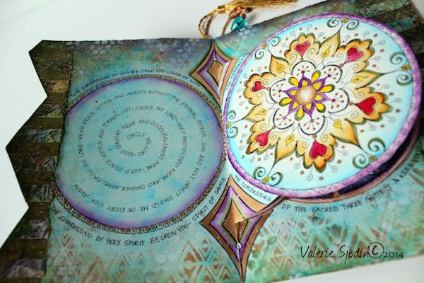 1. mandala prayer-Painted art journal-Valerie Sjodin
